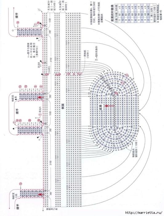 Вязание крючком. Летние сумочки с цветами (20) (533x700, 245Kb)