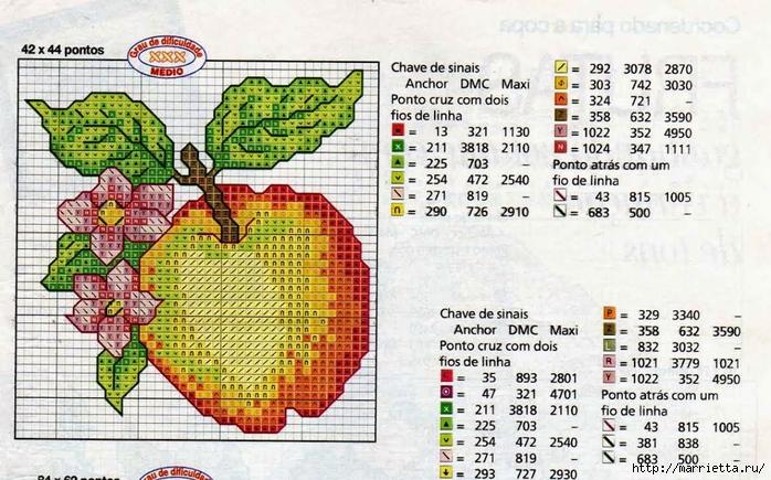 Миниатюрная вышивка. Овощи. Схемы (3) (700x435, 308Kb)