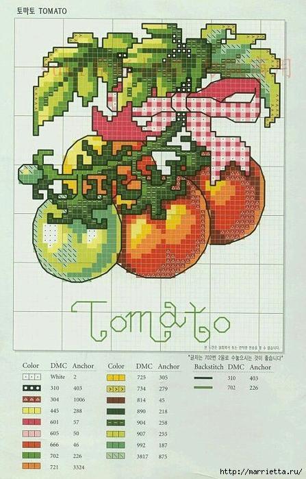 Миниатюрная вышивка. Овощи. Схемы (11) (447x700, 280Kb)