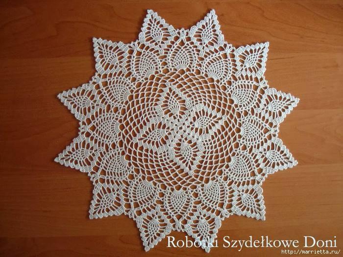 Круглые салфетки крючком. Схемы (21) (700x525, 251Kb)