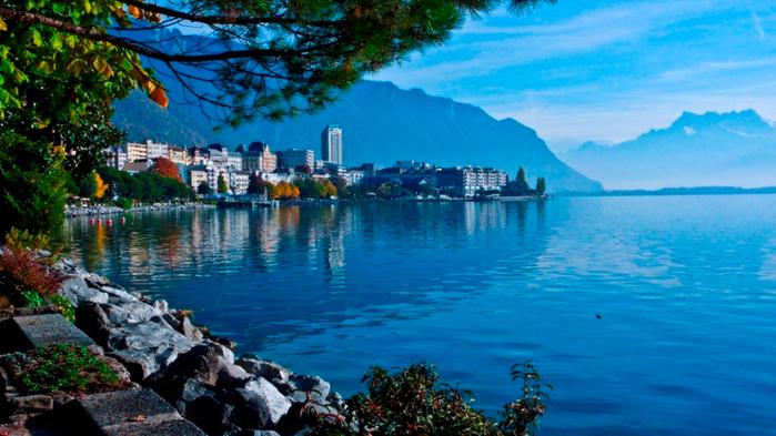 Монтре швейцария открытки с