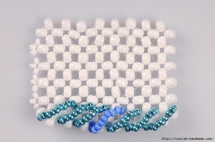 Ментоловый браслет из бисера. Схемы плетения (21) (700x464, 231Kb)