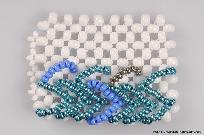 Ментоловый браслет из бисера. Схемы плетения (27) (700x464, 255Kb)