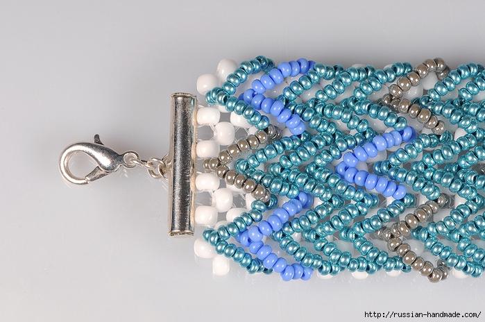 Ментоловый браслет из бисера. Схемы плетения (31) (700x464, 286Kb)