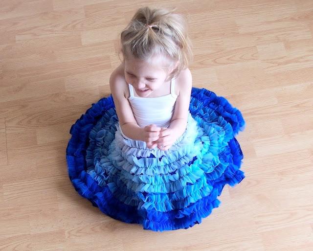 Как сшить юбочку для девочки с воланами фото 555