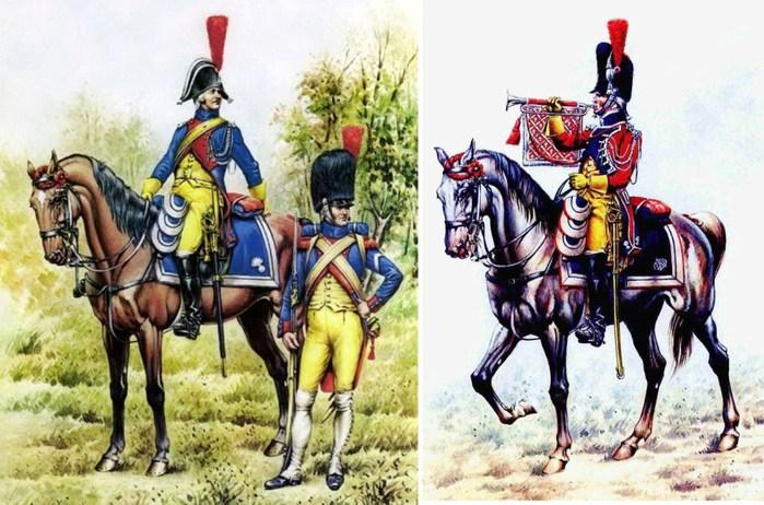 02 гвардейские жандармы с трубачом (700x462, 110Kb)