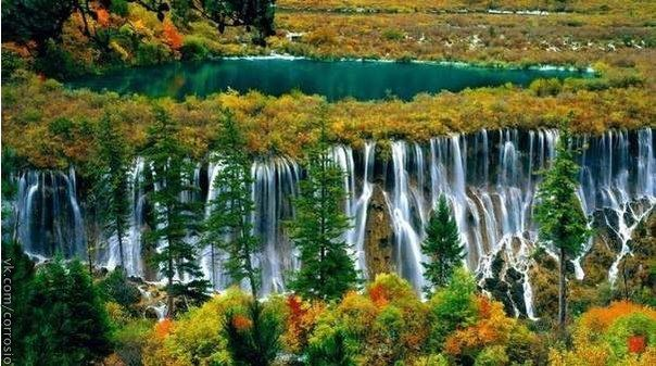 Национальный Парк Цзючжайгоу, Китай (604x337, 62Kb)