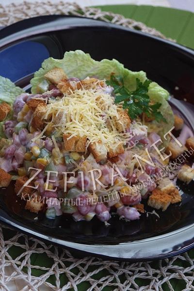salat-s-vetchinoj-fasolju-i-suharikami (400x600, 203Kb)