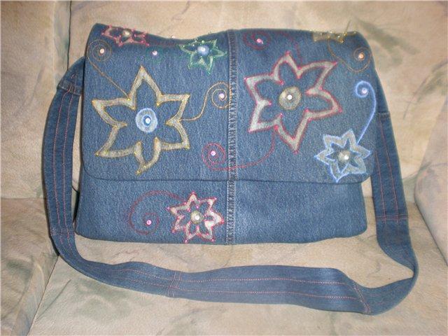выкройка рюкзак джинсовый