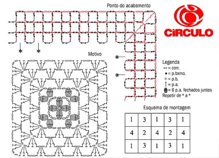 Схемы вязания крючком ковриков и дорожек