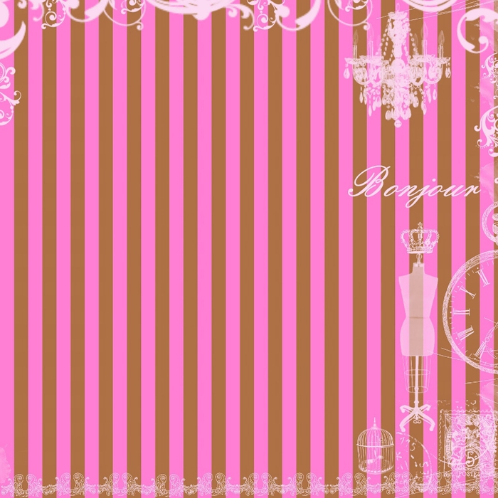 free digital scrapbook paper_brown and pink stripes (700x700, 218Kb)