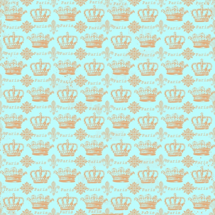 free digital scrapbook paper_paris crowns (700x700, 463Kb)