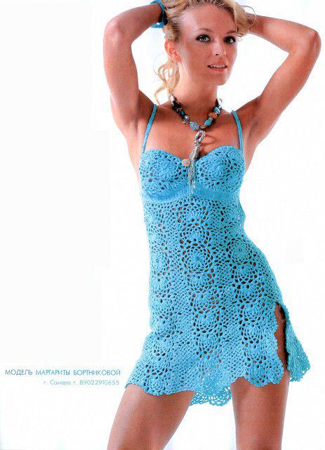 Вязание крючком платья сарафаны на лето новые серии 10