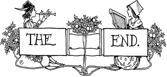 free vintage digi stamp_the end (700x323, 117Kb)
