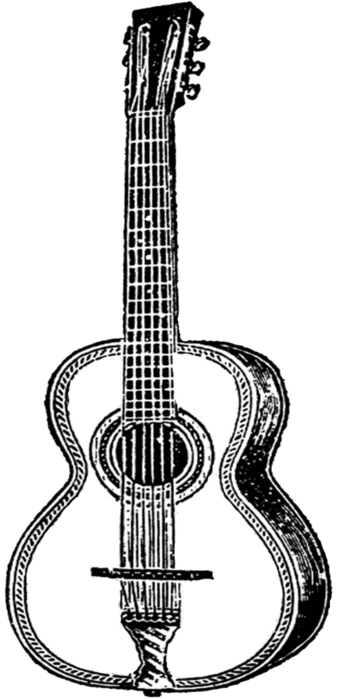 free vintage digital stamps_guitar (337x700, 93Kb)