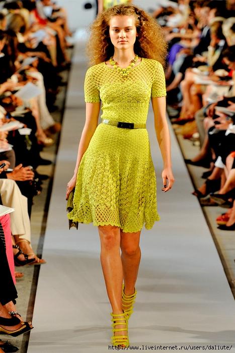 Фото модели вязаных платьев