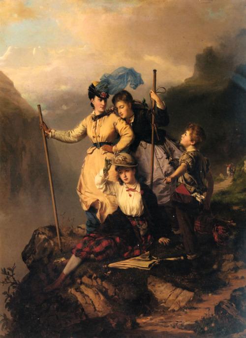 Mountain Climbers (1868) by Charles Edouard Boutibonne (500x686, 129Kb)