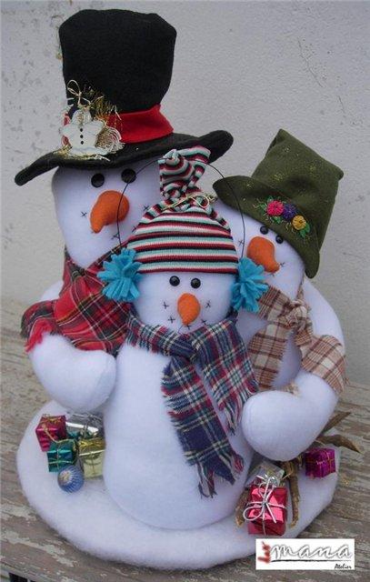 Как сделать деда мороза и снеговика своими