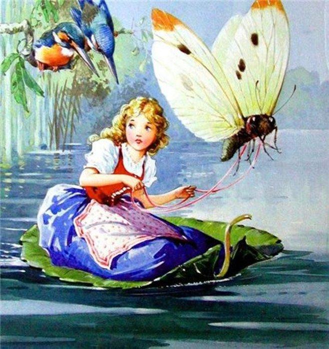 Дюймовочка. иллюстрация 1 (659x700, 106Kb)