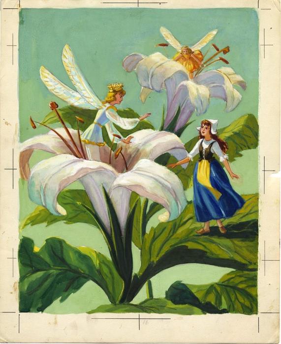 Дюймовочка. иллюстрация 21 (571x700, 122Kb)