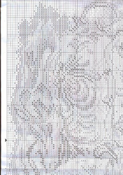 Схемы вышивки крестиком .