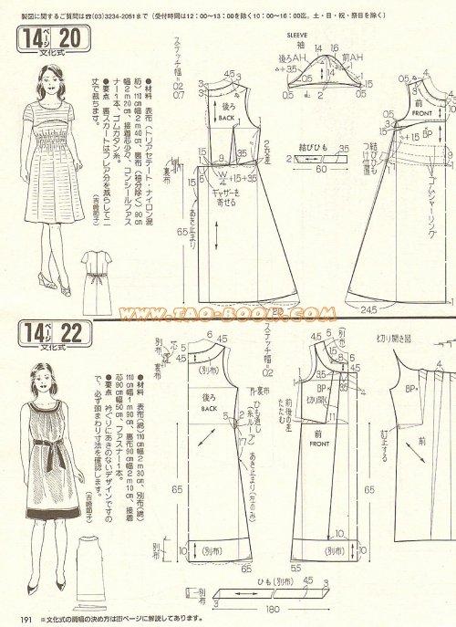 Выкройки летних платьев бесплатно 46 размера