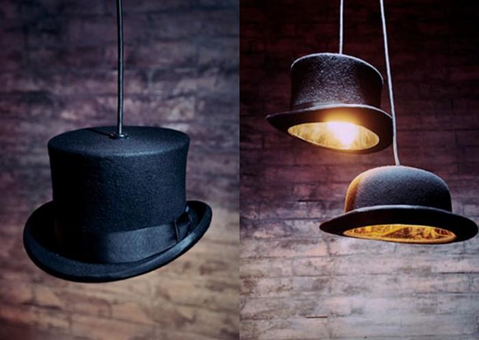 Настенный декор интерьера с помощью шляп 10 (700x496, 65Kb)