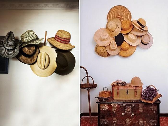 Настенный декор интерьера с помощью шляп 17 (700x525, 86Kb)