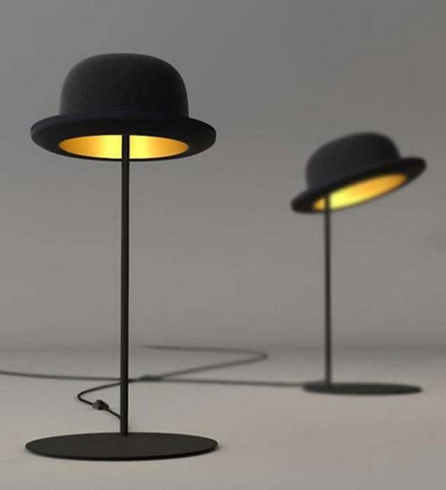 Настенный декор интерьера с помощью шляп 21 (637x700, 30Kb)