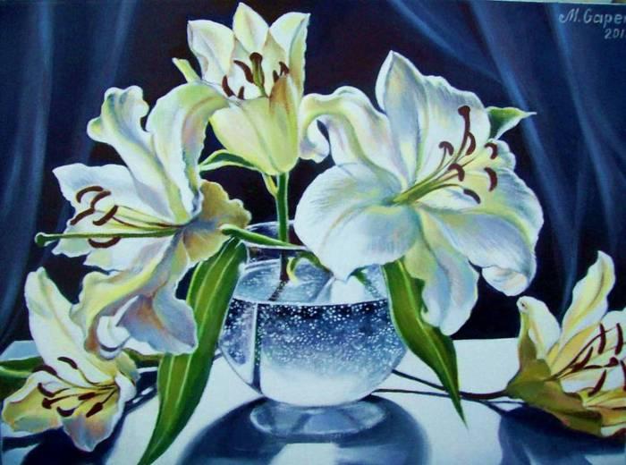 Белые лилии.  Гапен Мария.