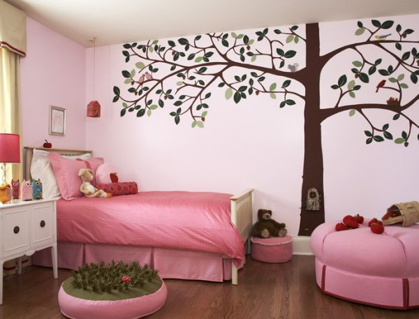 Pink tree wall decal high def pictures