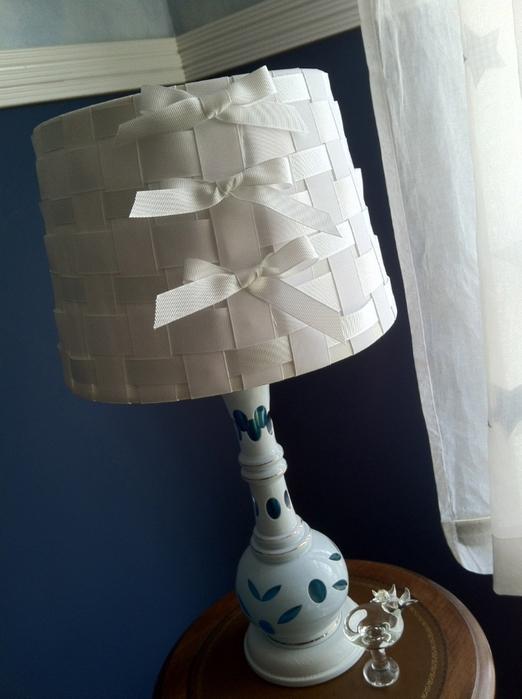 Сделать абажур на лампу своими руками фото