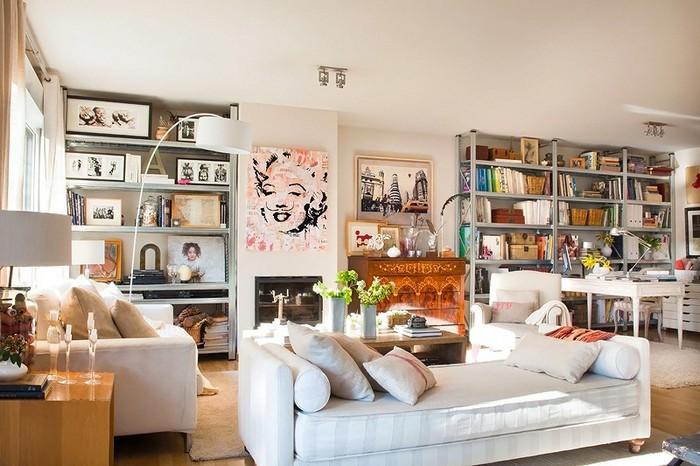 Стиль шебби шик в интерьере одной испанской квартиры 1 (700x466, 97Kb)