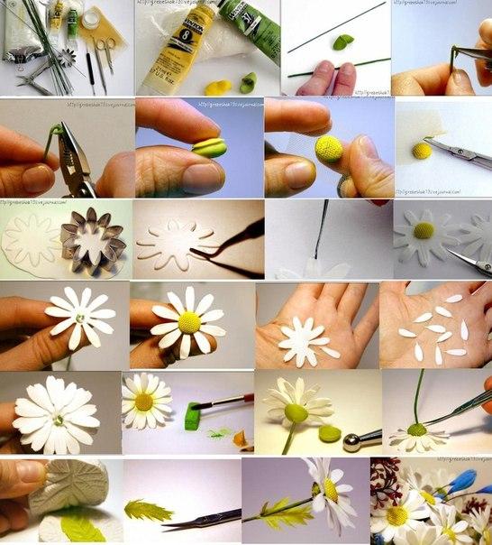 Пошагово как делать цветы из мастики