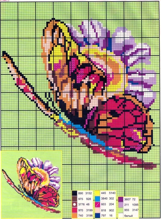 【转载】十字绣-15-蝴蝶系列--(燕窝编织)