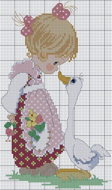 Вышивка крестом маленькой девочки