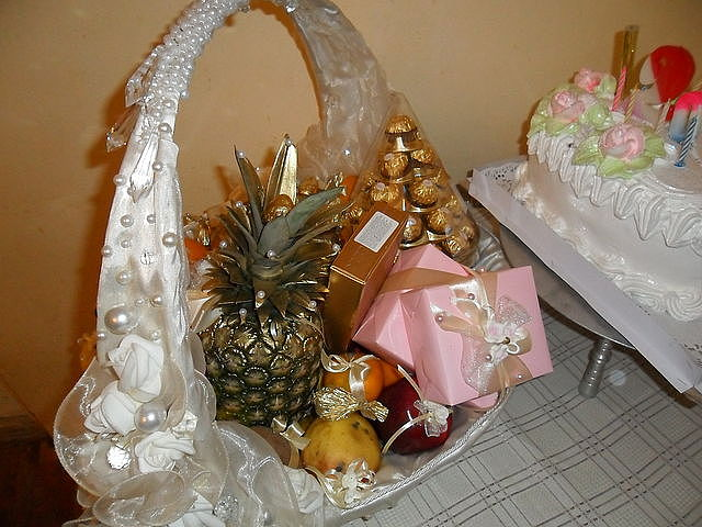 Свадебные корзины фото