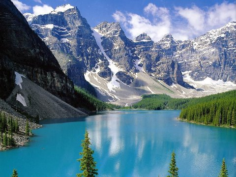 Moraine Lake, Banff National Park, Canada (480x360, 53Kb)