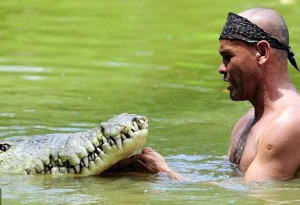 Ручной крокодил из Коста-Рики