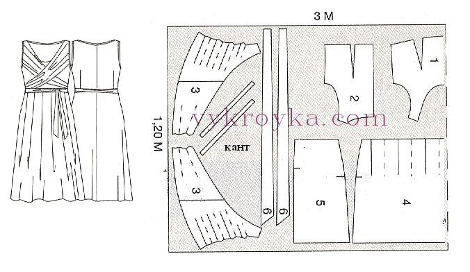 Платье в горошек с драпировкой на груди