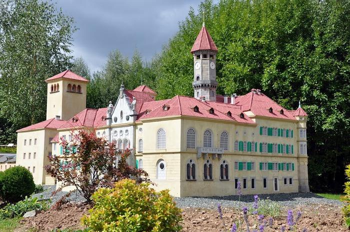Парк миниатюр в Германии - Miniwelt Lichtenstein, Sachsen. 67542