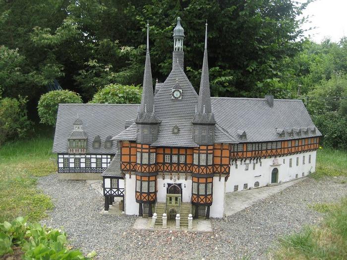 Парк миниатюр в Германии - Miniwelt Lichtenstein, Sachsen. 15517