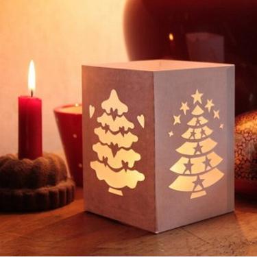 Декор из бумаги на свечи