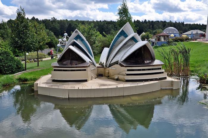 Парк миниатюр в Германии - Miniwelt Lichtenstein, Sachsen. 24044