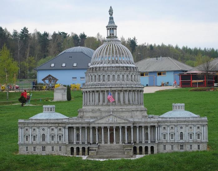 Парк миниатюр в Германии - Miniwelt Lichtenstein, Sachsen. 47095