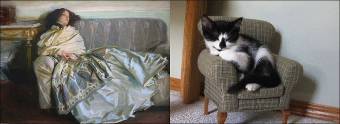 кошки в живописи 5 (700x255, 72Kb)