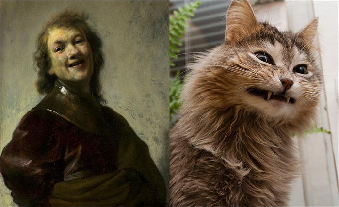 кошки в живописи 9 (700x427, 115Kb)