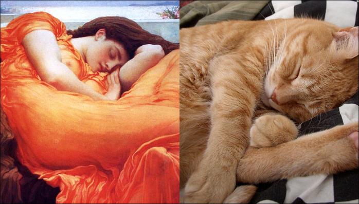 кошки в живописи 11 (700x397, 121Kb)