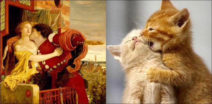 кошки в живописи 14 (700x342, 123Kb)