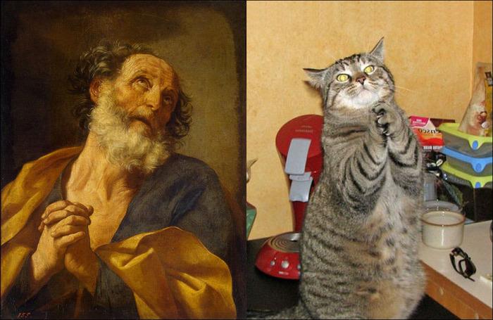 кошки в живописи 18 (700x455, 128Kb)